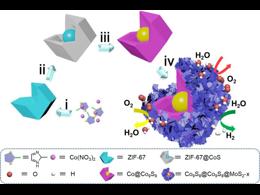 由MOF衍生的核-双壳层异质结构用于HER、OER以及ORR三功能催化